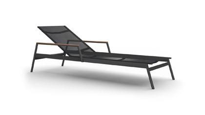 Greenwich Batyline Arm Pool Chaise